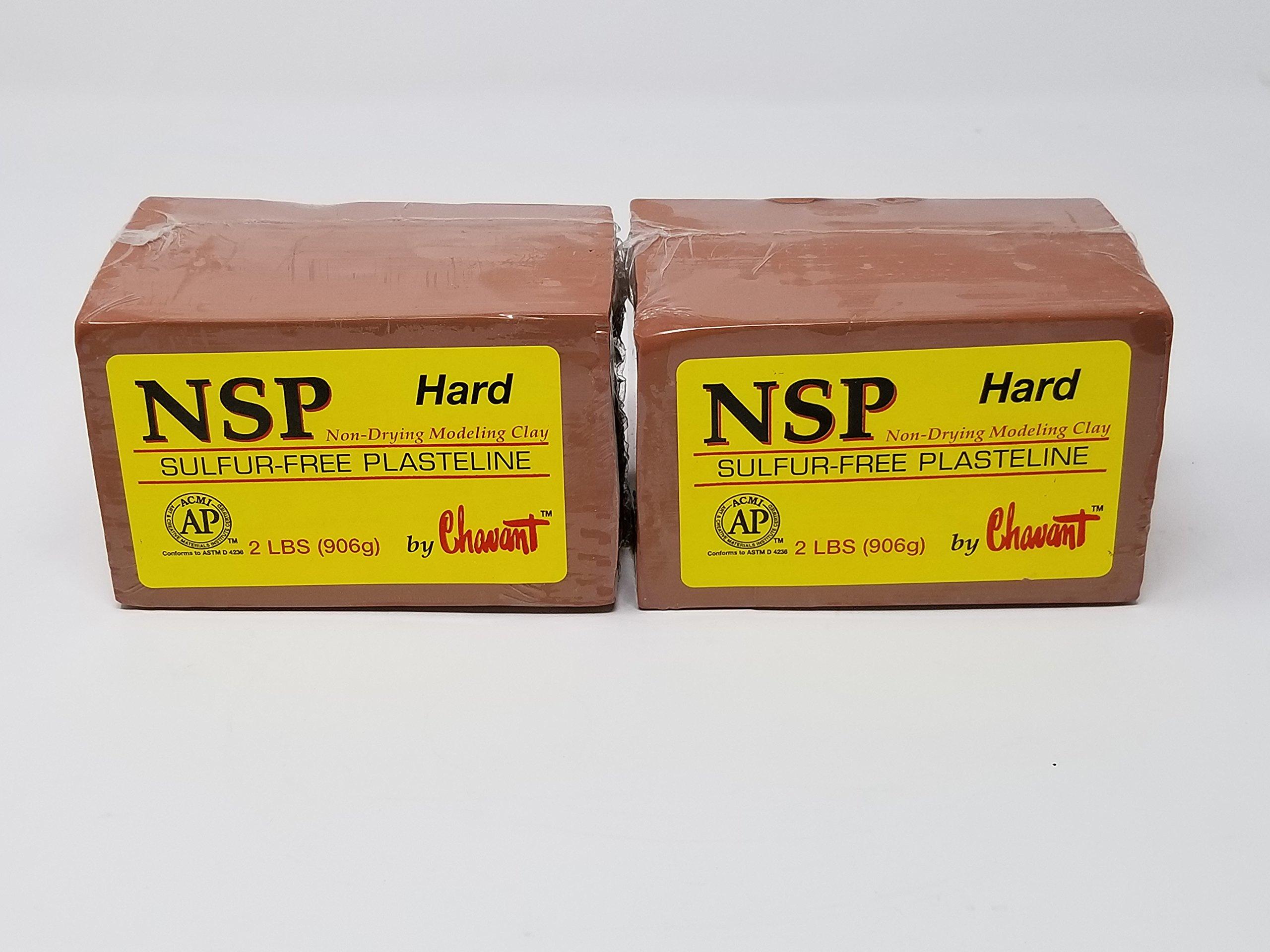 Chavant NSP HARD 4 Lbs Oil Based Sulfur-Free Sculpting Clay (Brown)