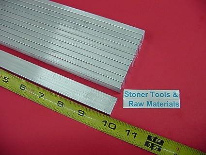"8 Pieces 1//2/"" X 1/"" ALUMINUM 6061 FLAT BAR 8/"" long .500/"" T6511 Plate Mill Stock"