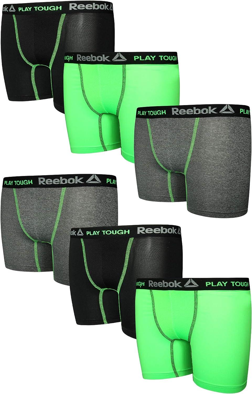 Reebok Boys 6 Pack Performance Boxer Briefs