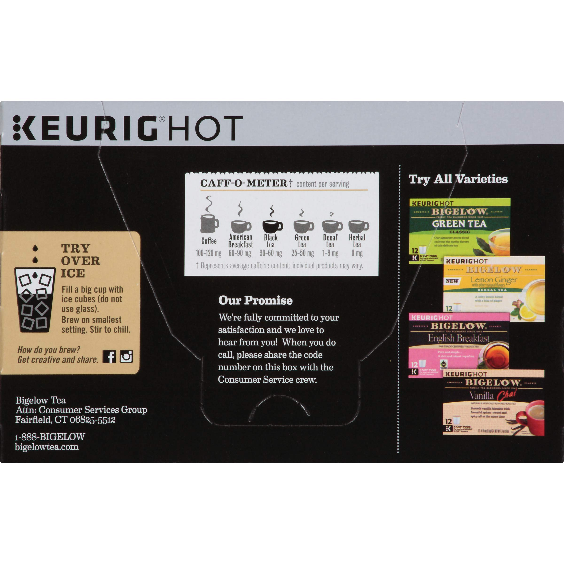 Bigelow Earl Grey Black Tea Keurig K-Cups, Box of 12 Cups (Pack of 6), 72 Tea Bags Total , Single Serve Portion Premium Tea in Pods, Compatible with Keurig and other K Cup Coffee and Tea Brewers by Bigelow Tea (Image #2)