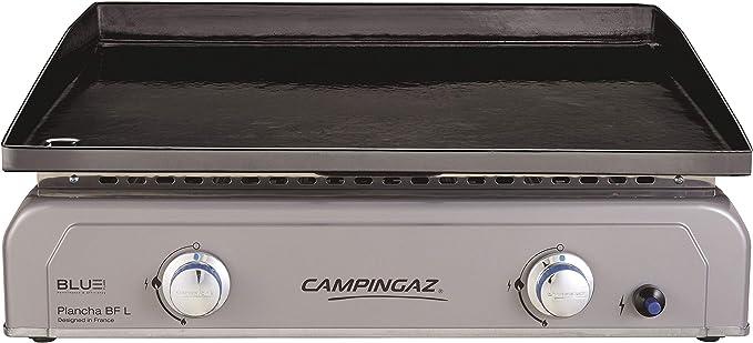Campingaz Plancha de Gas L con Blue Flame, 2 Quemadores de Acero Aluminizado, 6 kW de Potencia con Tecnología Blue Flame, Plancha de Mesa Portátil, ...