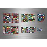 Planche autocollant sticker drapeau pays rangement classement timbre monde r2