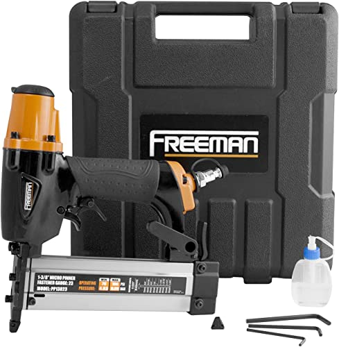 Freeman PP13823 Pneumatic 23-Gauge 1-3 8 Micro Pinner with Case