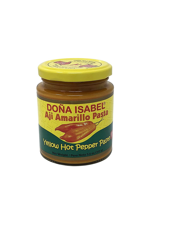 Amazon.com : Flavors of Peru Sauce Bundle (Pack of 4) - (2) Aji Amarillo Yellow Spicy Pepper Paste - (1) Dried Corn Maiz Cancha - (1) Huancaina Hot Chili ...