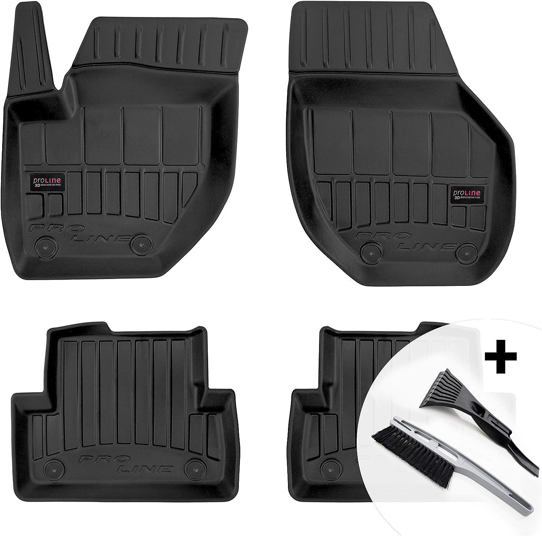 3d Gummimatten Auto Fußmatten Gummi Automatten 4 Teilig Set Passend Für Volvo V40 2012 2019 Auto