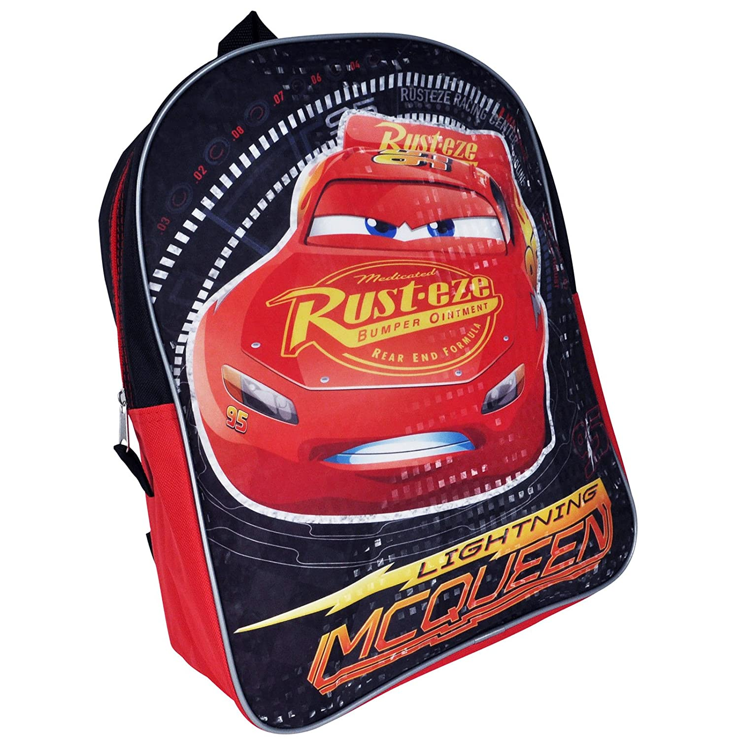 1f354d15ad Amazon.com  Disney Pixar Cars Lightning McQueen 15-inch Kids Backpack with  Reflective Prism Printing  Clothing