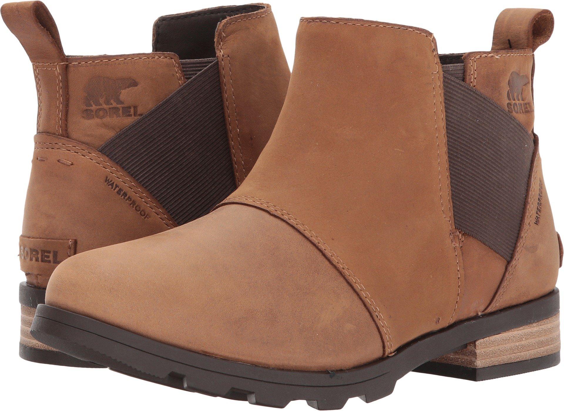 SOREL Women's Emelie Chelsea Non Shell Boot, Size: 6 B(M) US, Color Elk/Cordovan