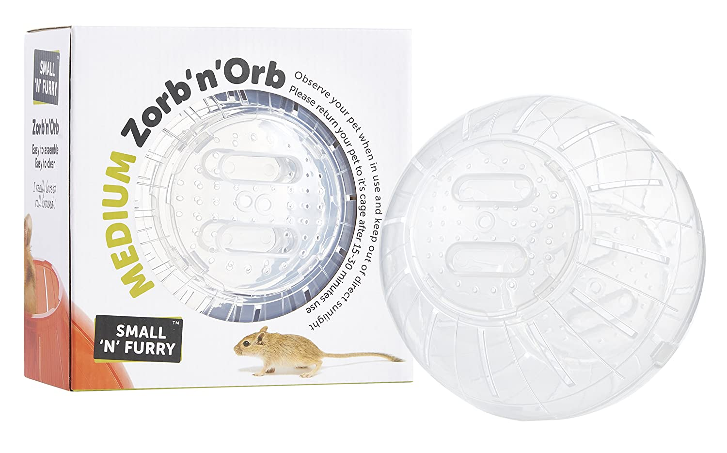 "Zorb 'n' Orb Exercise Jogging Travel Play Ball Hamsters Mice Rats Degus Gerbils (Large 25cm (10"")) Sharples'n'Grant"