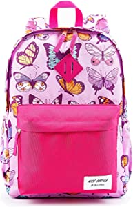 Preschool Backpack Little Kid Toddler Kindergarten School Backpacks for Boys and Girls with Chest Strap (Butterfly)