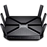 TP-Link AC3200 Tri-Band Wireless Gigabit Cable Gaming Router, 1 GHz Dual-Core CPU, 3 Co-Processors, USB 3.0, 2.0 Ports, Beamforming Technology, UK Plug (Archer C3200)