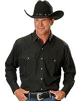 ELY CATTLEMAN Men's Dobby Solid Western Dress Shirt - 15201934-89