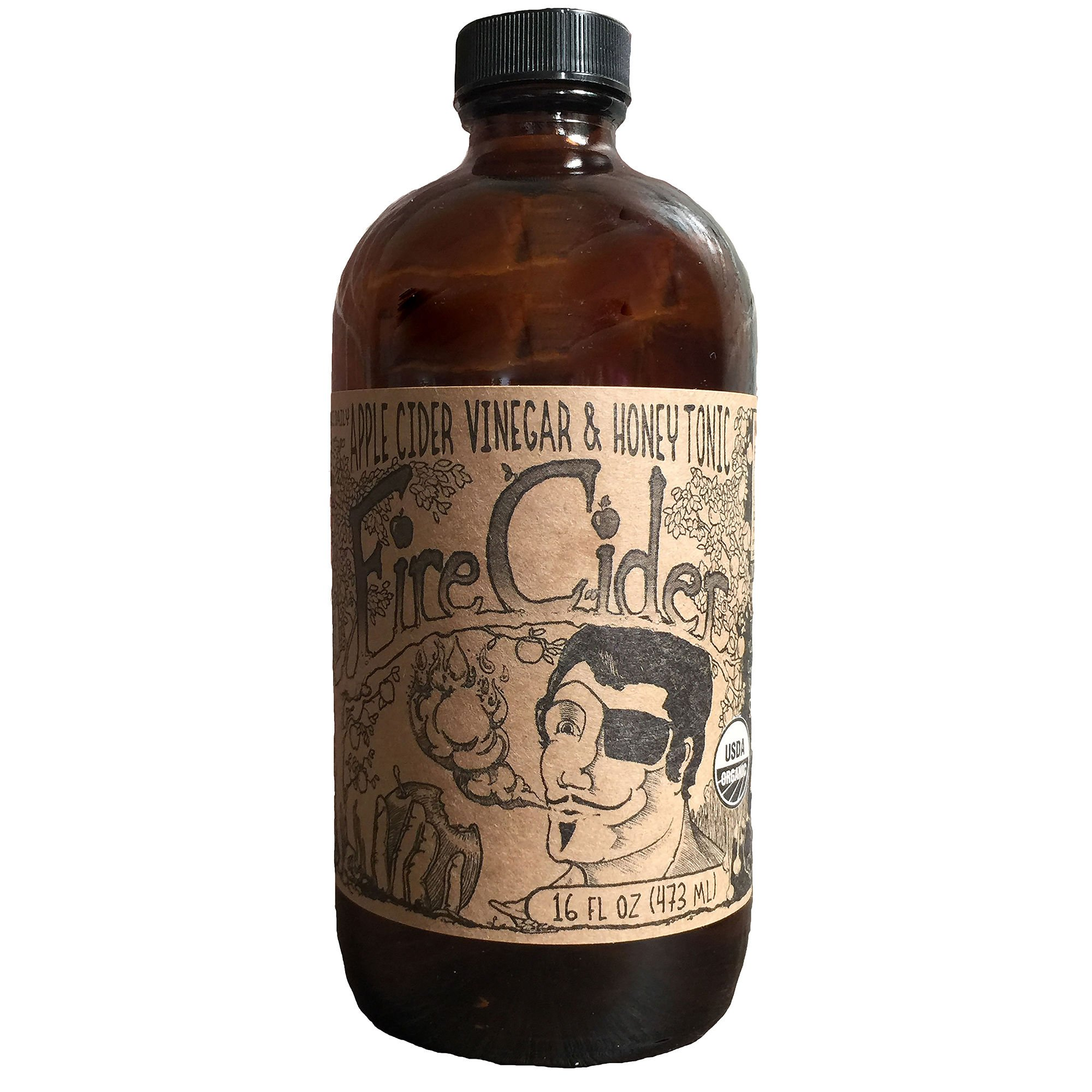 Fire Cider | Apple Cider Vinegar and Honey Tonic | Original | 16 oz