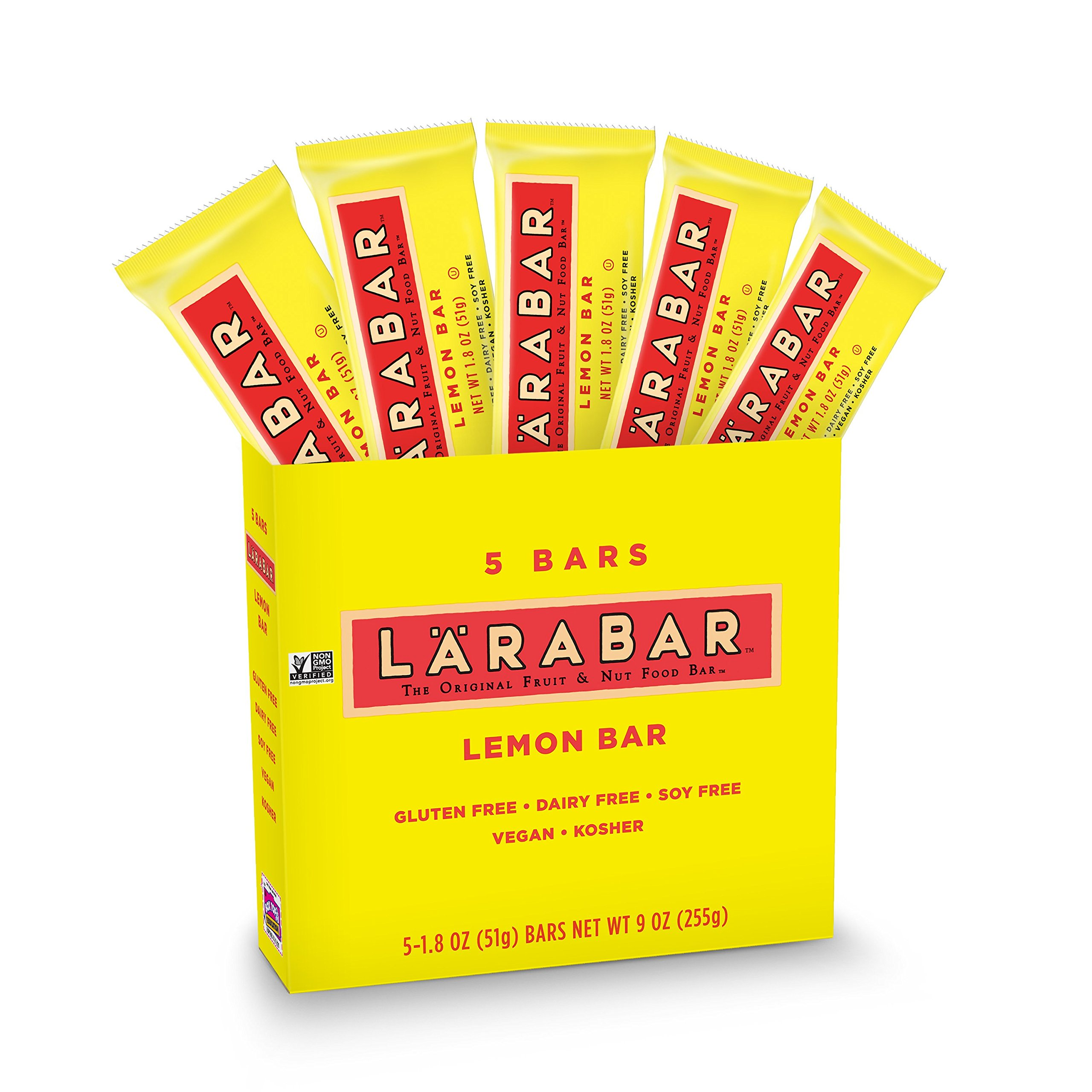 LARABAR, Fruit & Nut Bar, Lemon, Gluten Free, Vegan, Whole 30 Compliant, 5 Count, Pack of 8 by LÄRABAR