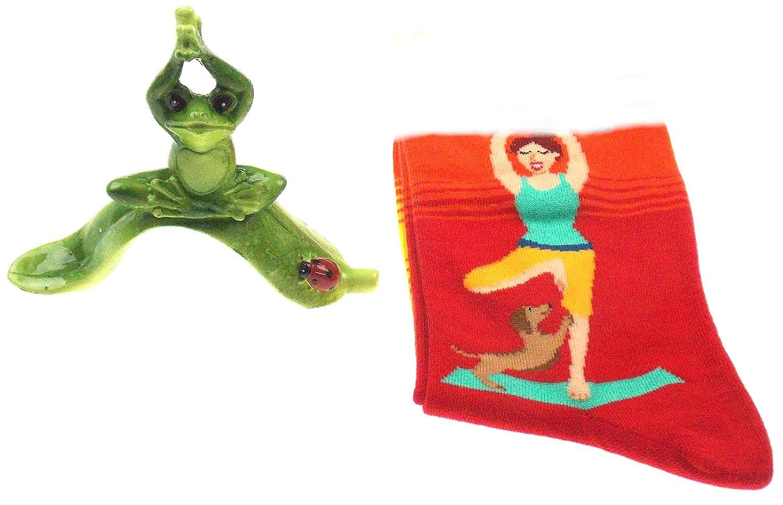 Amazon.com: Yoga Gift Bundle - Womens Hot Sox Yoga Themed ...