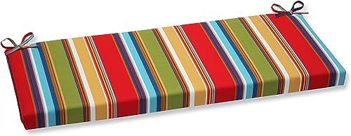 Pillow Perfect 564227 Outdoor Indoor Westport Garden Bench Swing Cushion, 45 x 18 , Multicolored
