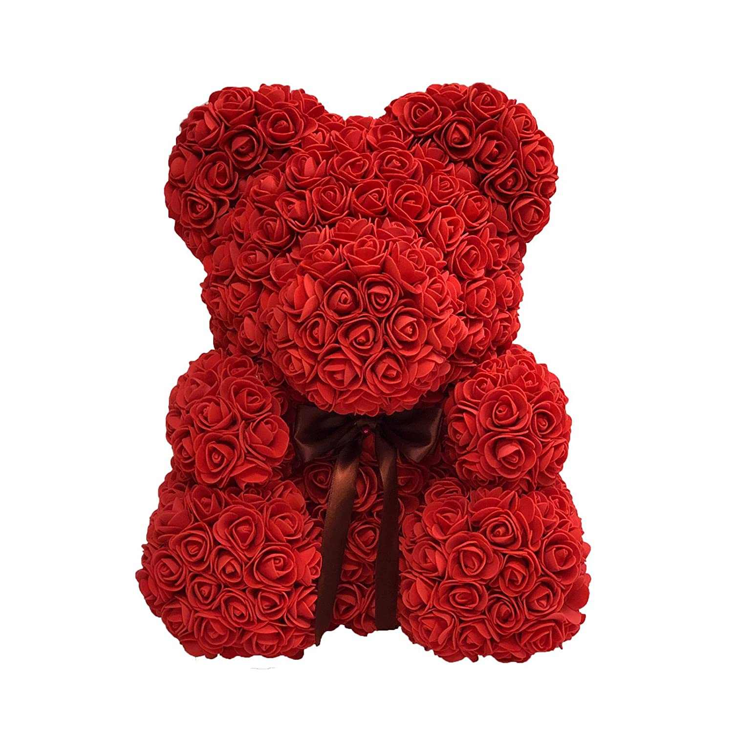 Amazon rose bear teddy bear cub forever artificial rose amazon rose bear teddy bear cub forever artificial rose anniversary christmas valentines gift 14 home kitchen izmirmasajfo