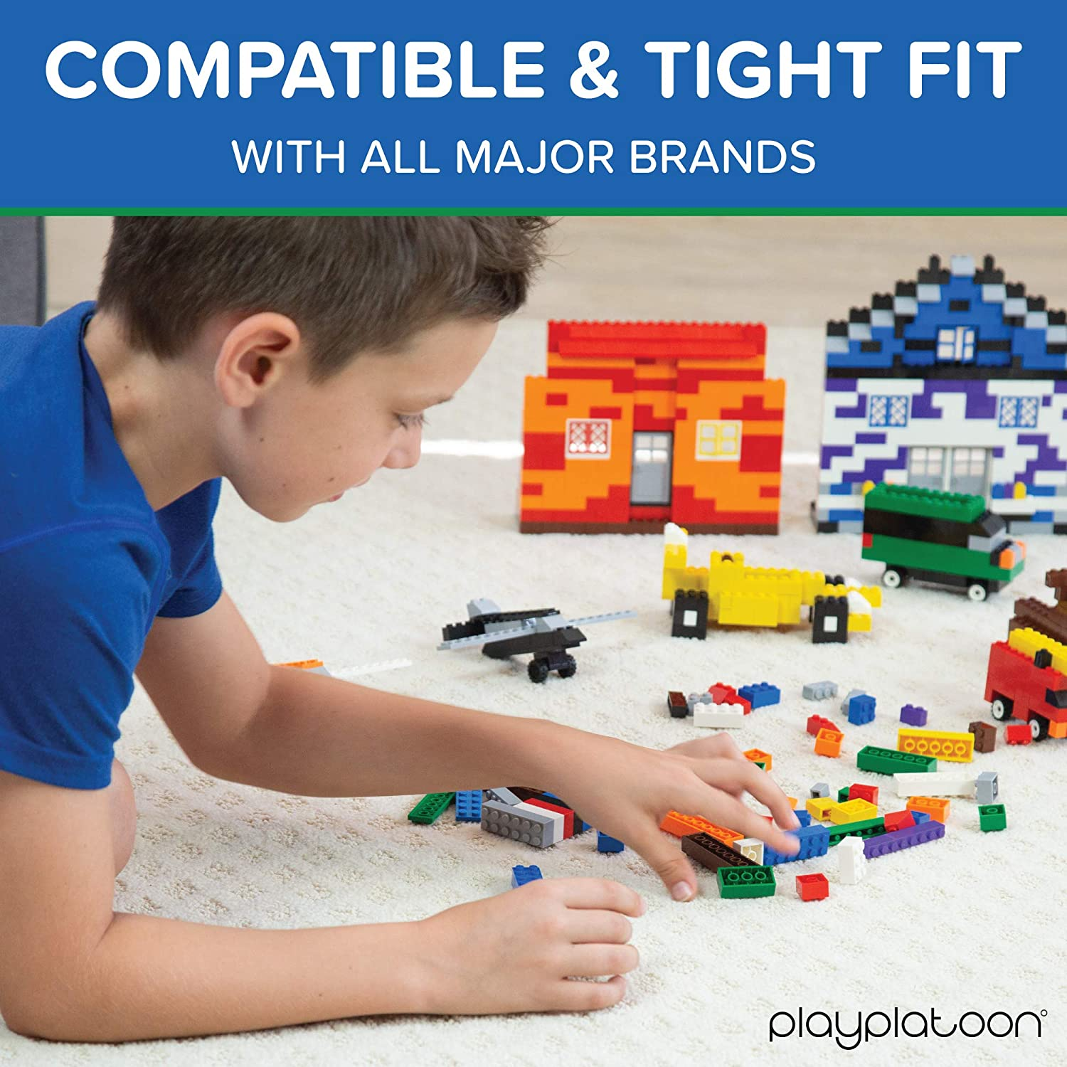 Compatible with All Major Brands Pastel Colors Tires Axles 1100 Piece Building Bricks Kit with Wheels Windows and Doors Pieces