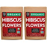 Organic Hibiscus Flowers | Loose Tea (400+ Cups) | Cut & Sifted | 32oz/907g Resealable Kraft Bag | 100% Raw From Egypt | by F