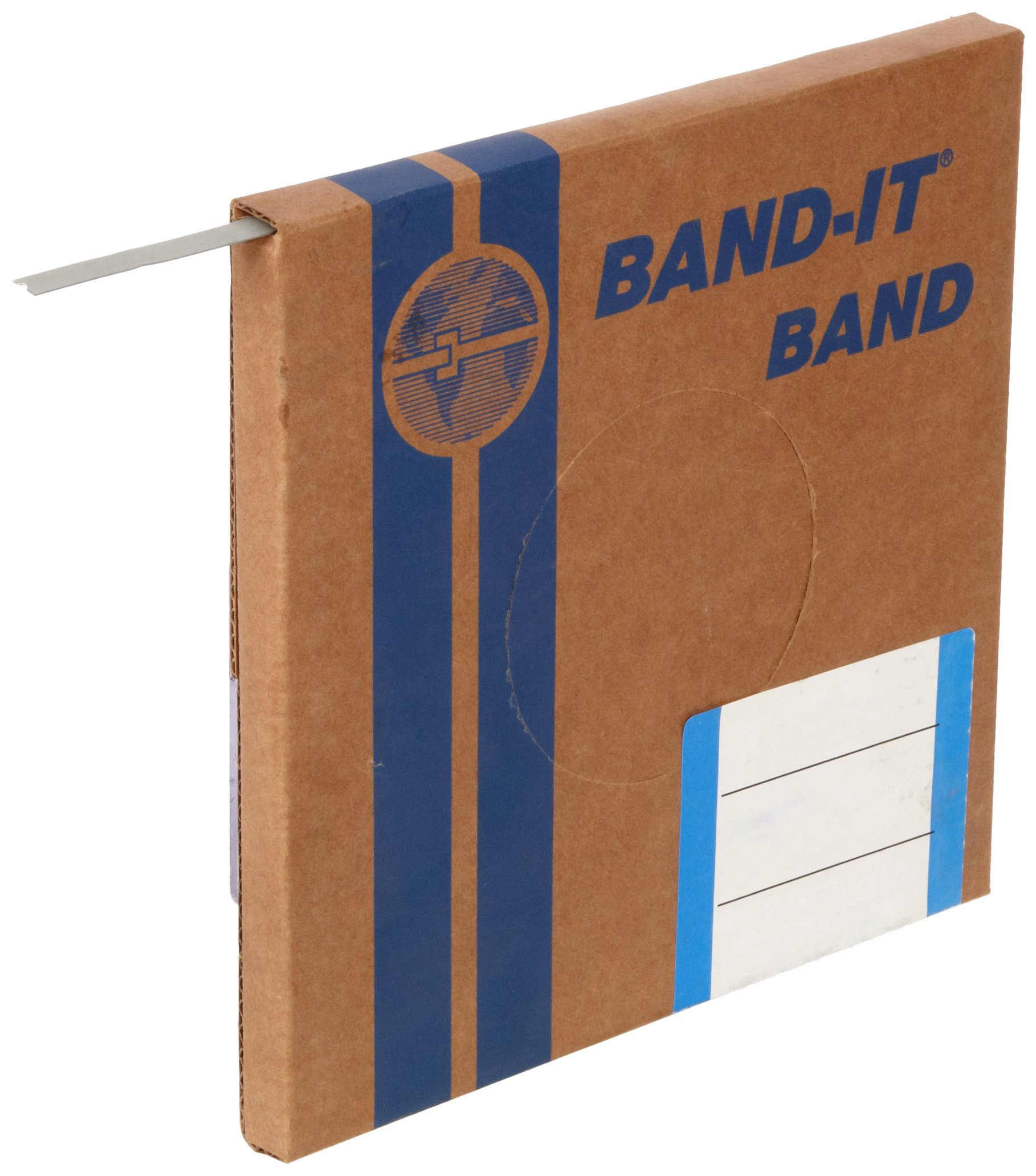 BAND-IT C30399 Galvanized Carbon Steel Band, 3/8'' Width X 0.025'' Thick, 100 Feet Roll