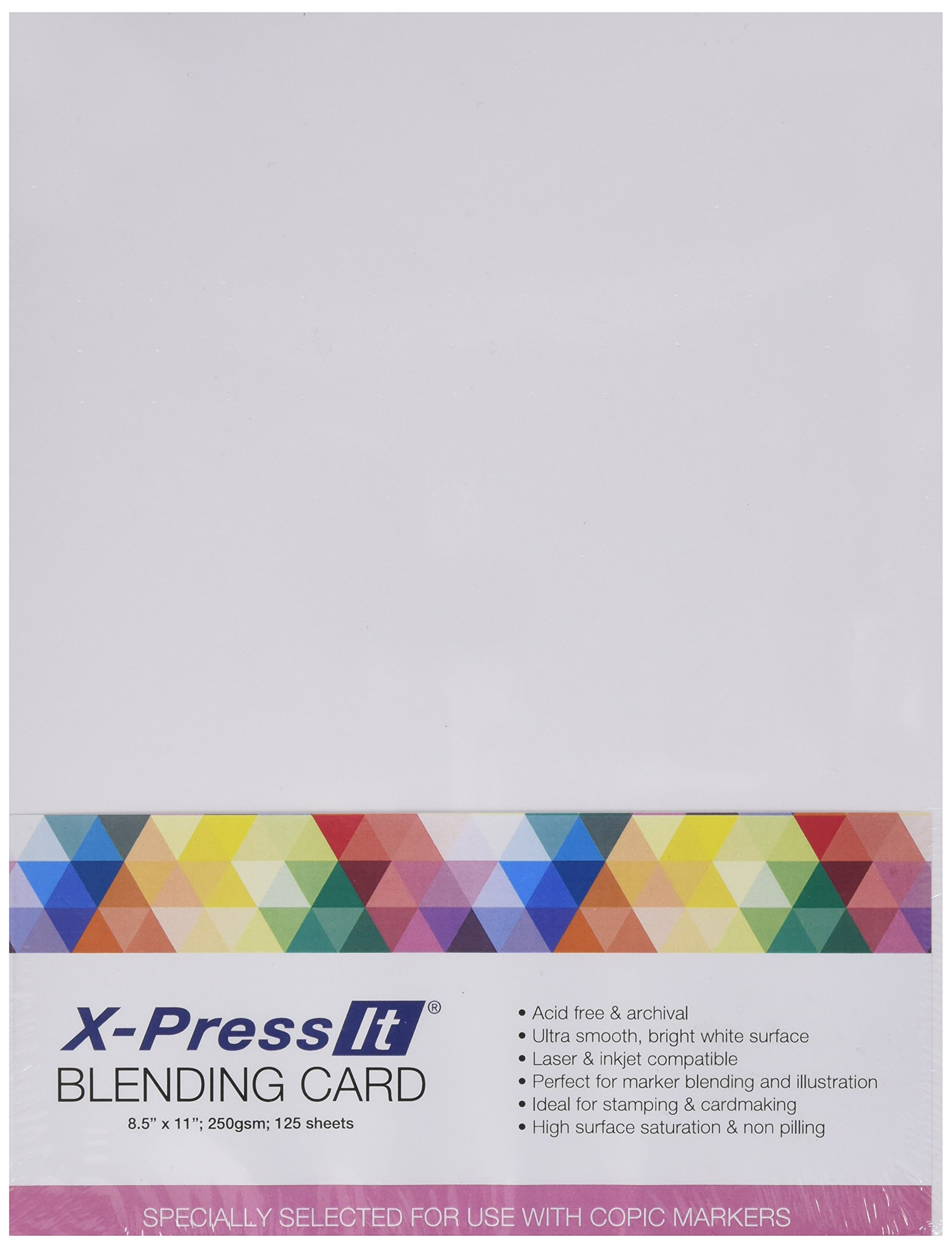 Copic Marker XPBC 8-1/2-Inch by 11-Inch Express Blending Card, White, 125 Per Pack