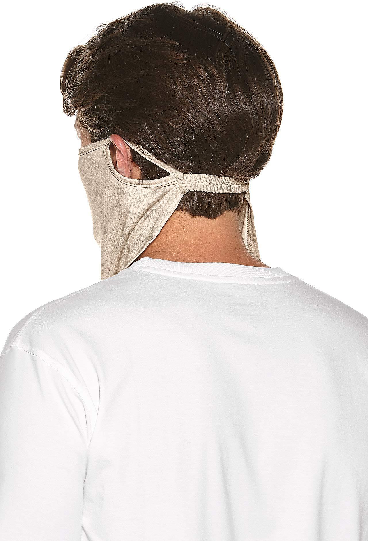 Coolibar UPF 50+ Unisex UV Face Mask - Sun Protective (Large/X-Large- Tan Coolibar Camo) by Coolibar (Image #3)