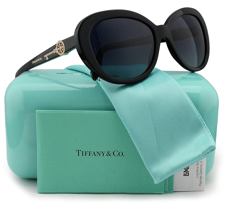 78b18d306cf77 Tiffany & Co. TF4118B Polarized Sunglasses Shiny Black w/Dark Blue ...