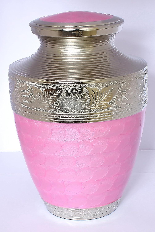 Urne für Asche, Urne Erwachsene, Funeral Memorial Begräbnis Urne groß, Rosa und Silber sku7875Günstigen Preis