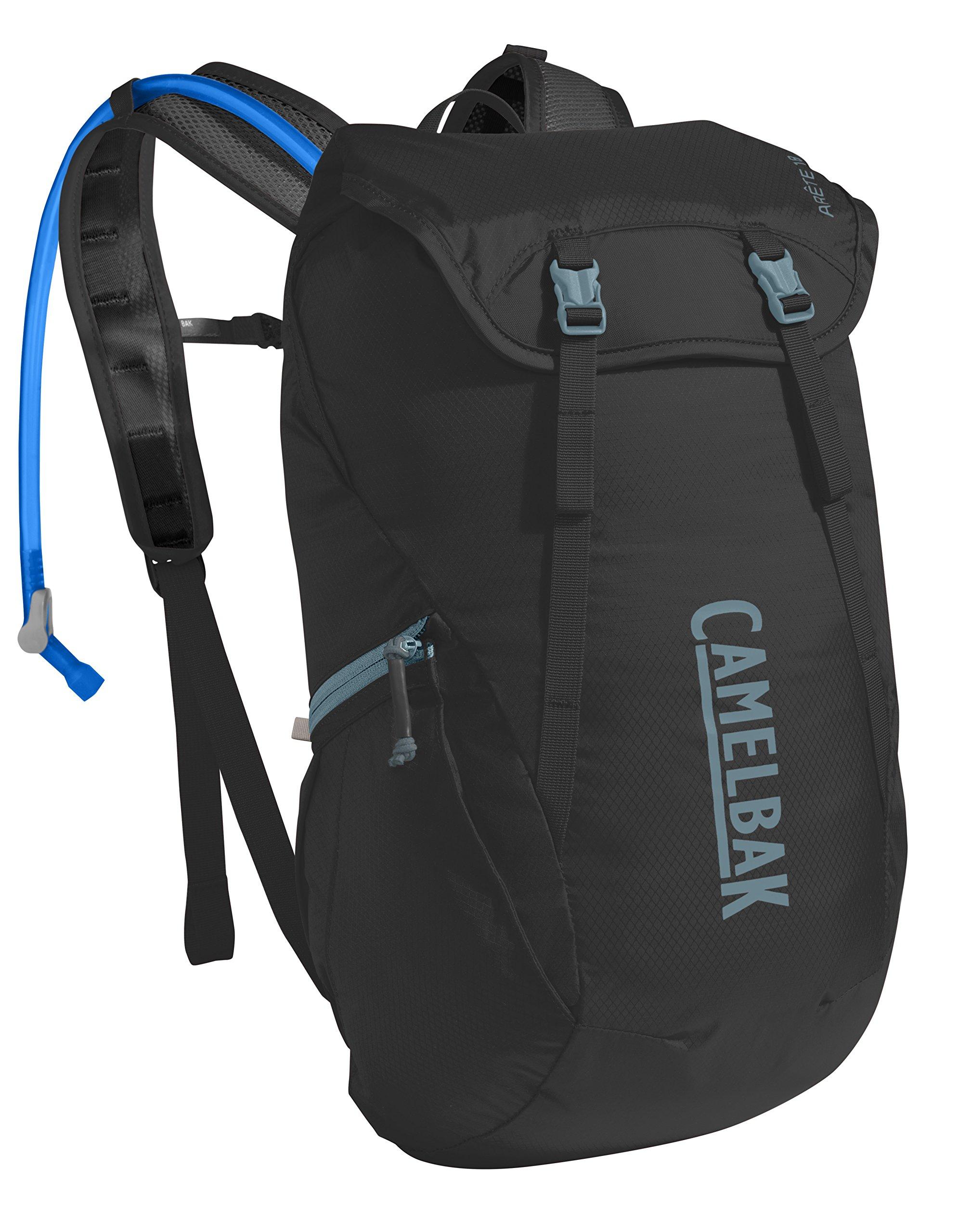 CamelBak Arete 18 Crux Reservoir Hydration Pack, Black/Slate Grey, 1.5 L/50 oz