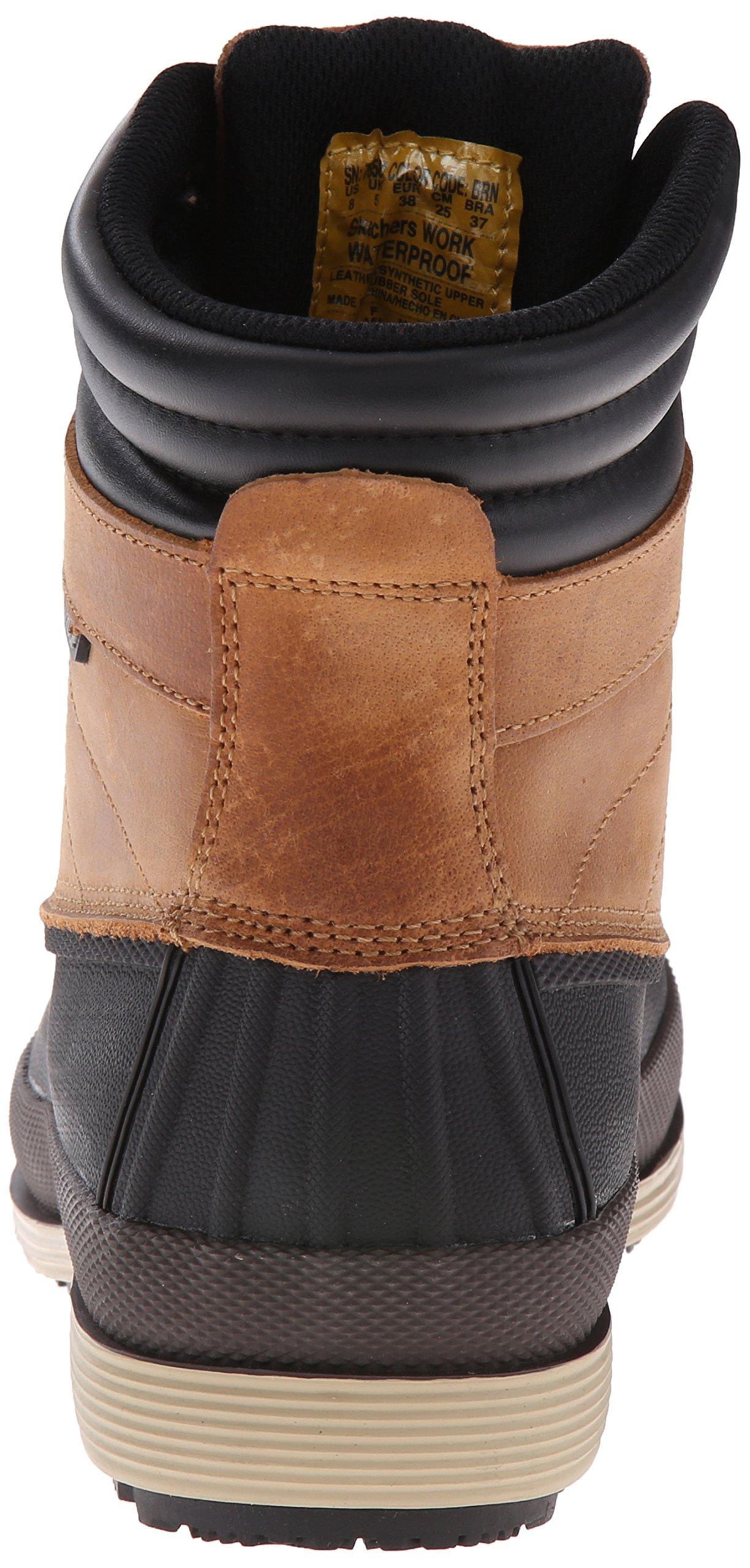 Skechers for Work Women's Duck Rain Boot, Brown, 5.5 M US by Skechers (Image #2)