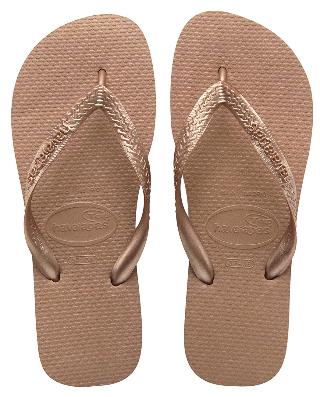 6584f6732723 Authentic Havaianas Flip Flop Thong Sandal Top Metallic