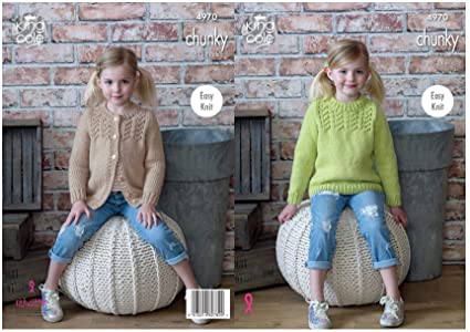 3dbdfcc62596 Image Unavailable. Image not available for. Colour  King Cole Childrens  Chunky Knitting Pattern ...