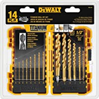 Dewalt DW1354 14-Piece Titanium Pilot Point Drill Bit Set