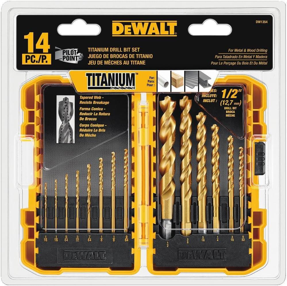 DeWalt dw135414piece Titanio Juego de brocas, nuevo, envío gratuito