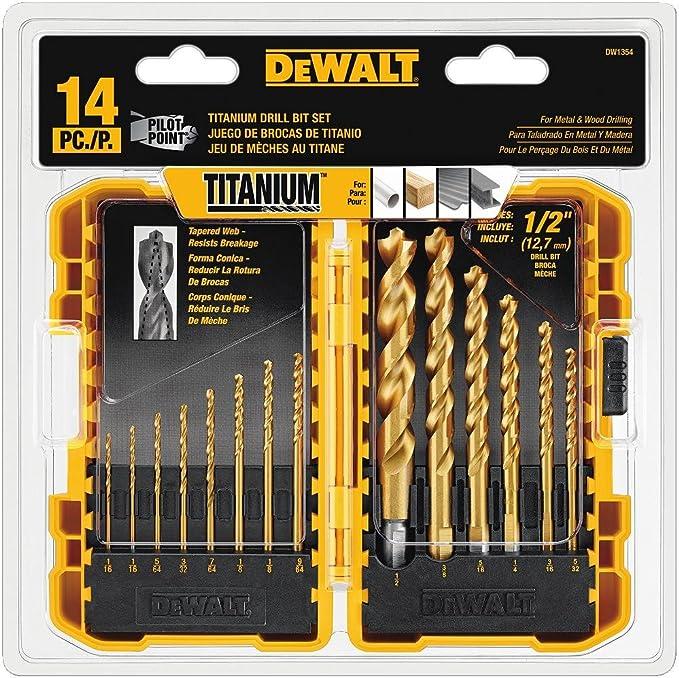 DEWALT Drill Bit Set, Titanium, 14-Piece - Durability
