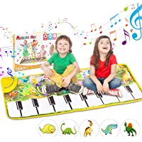 Magicfun Kids Musical Piano Mat - 43.5 x 14'' Play Keyboard Mat, Electronic Music Carpet 8 Dinosaurs Touch Play Blanket Funny Xmas Gifts Toys for Girls Boys Toddlers Infant Kids Age 3 4 5 6 Years Old