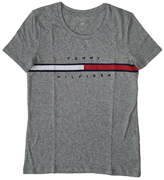511a6c0f8 Tommy Hilfiger Women s Big Logo Line T-Shirt  Amazon.ca  Clothing ...
