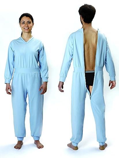 Pijama Sanitario para Enfermos Art. 7888 - Color Azul Claro - Talla Extra Large