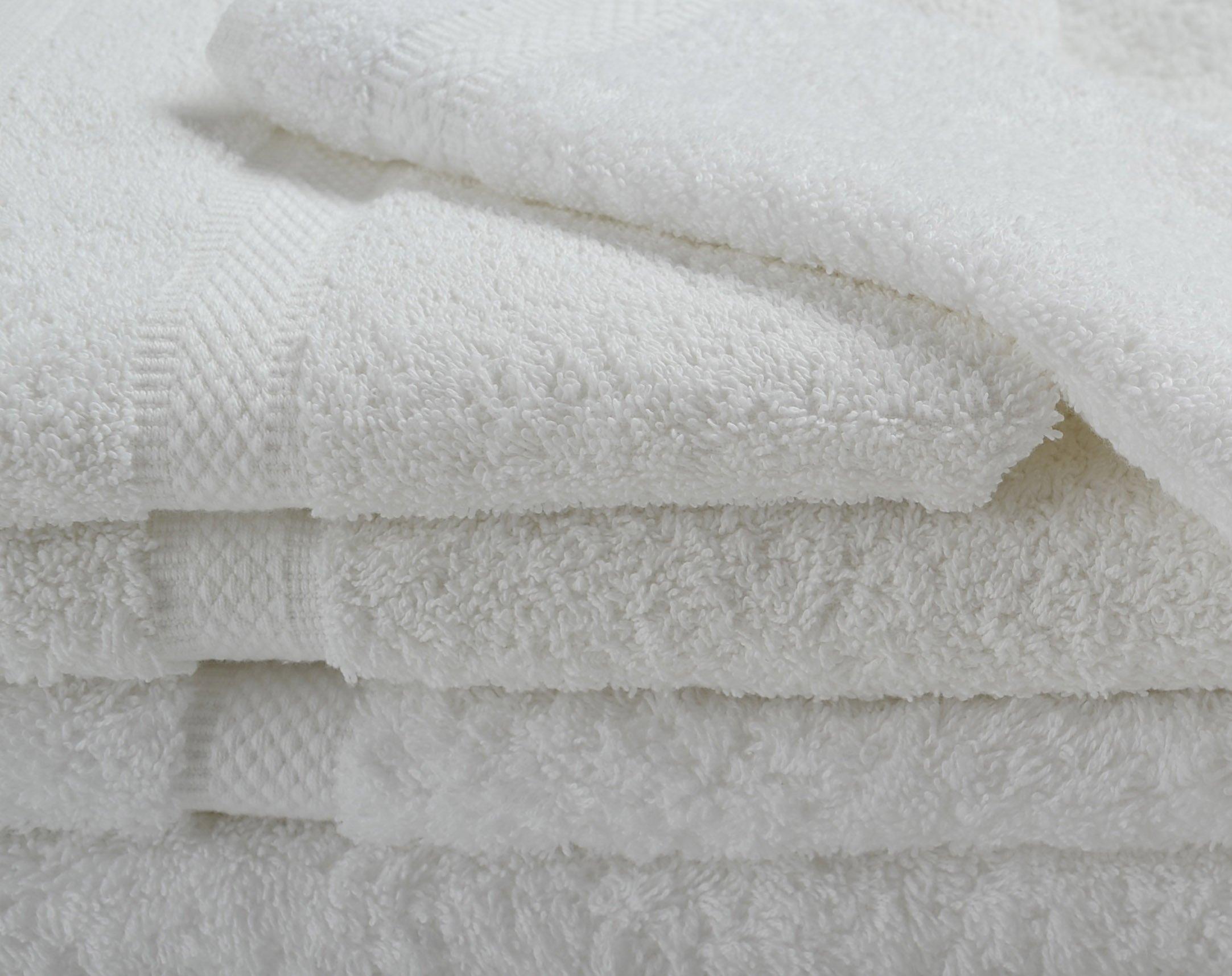 Hotel Oxford Imperiale Pool Towels 35x70 100% Premio Ringspun Cotton Dobby Border & Dobby Edge White 20 Lb/dz