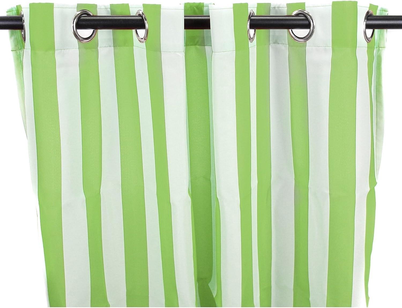 DH 1 pieza 84 pulgadas Kiwi Color Gazebo Cortinas Panel Único ...