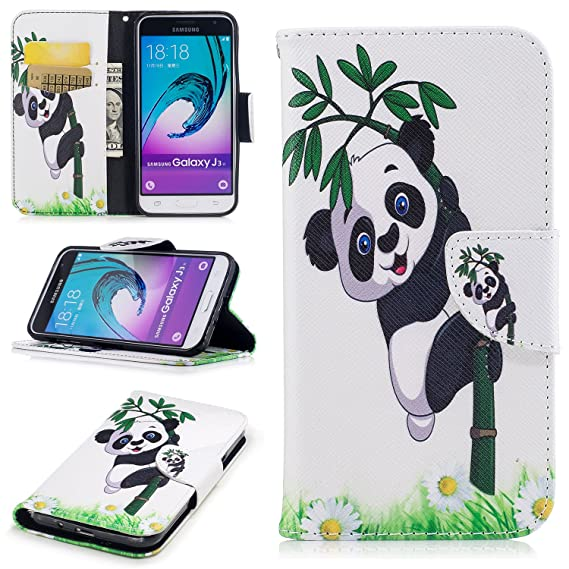 Galaxy J3 Case, Galaxy J3 V Case, Express Prime Case, Amp Prime Case, Ranyi  [Flip Patterned Wallet] [ID&Credit Card Slot] [Kickstand Feature] Cute