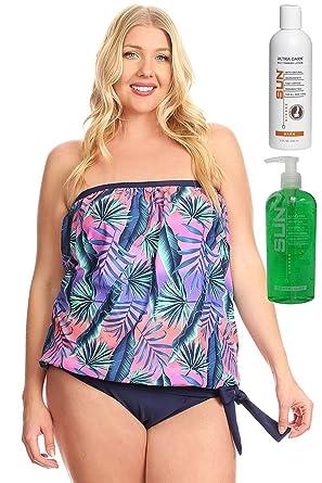 b396f1086e5 Dippin' Daisy's Blouson Tankini Swimwear for Women | Neon Jungle Plus Size  22w | with