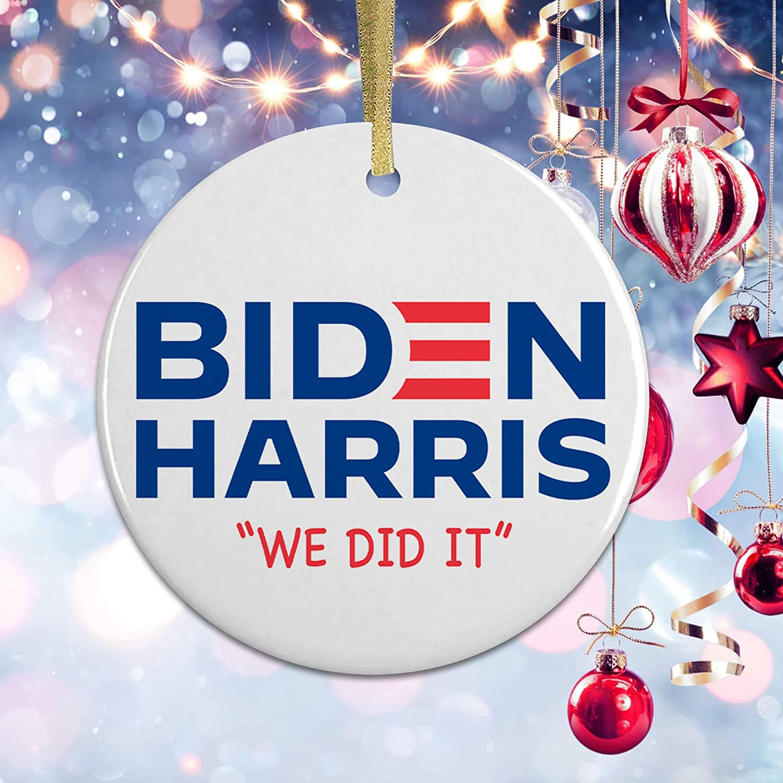 Biden Harris Christmas Ornament EXCLUSIVE