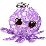 Octopus Pendente, Gambe Catena Clip Rosa / Viola