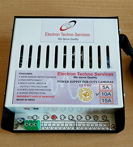 Buy ETS CCTV SMPS - HEAVY DUTY POWER SUPPLY FOR CCTV CAMERA & LED ...