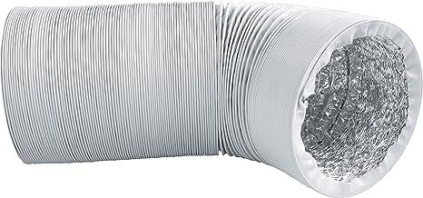 Canalizado Manguera con mitones de de aluminio, diámetro 150 mm, longitud 3 m – para secadora, aire acondicionado, campana – Estable y acolchada): Amazon.es: Hogar