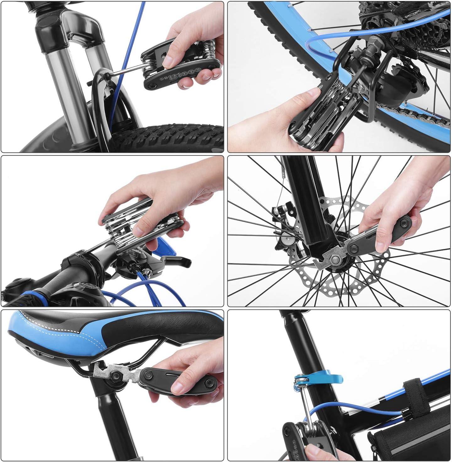 SKM Kit de Reparación de Bicicletas con Bolsa de Transporte, 16 en ...