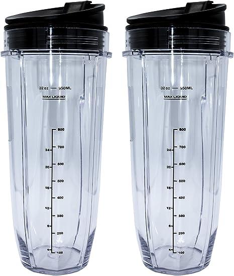 Amazon.com: Blendin - Juego de 2 tazas de café con tapas de ...