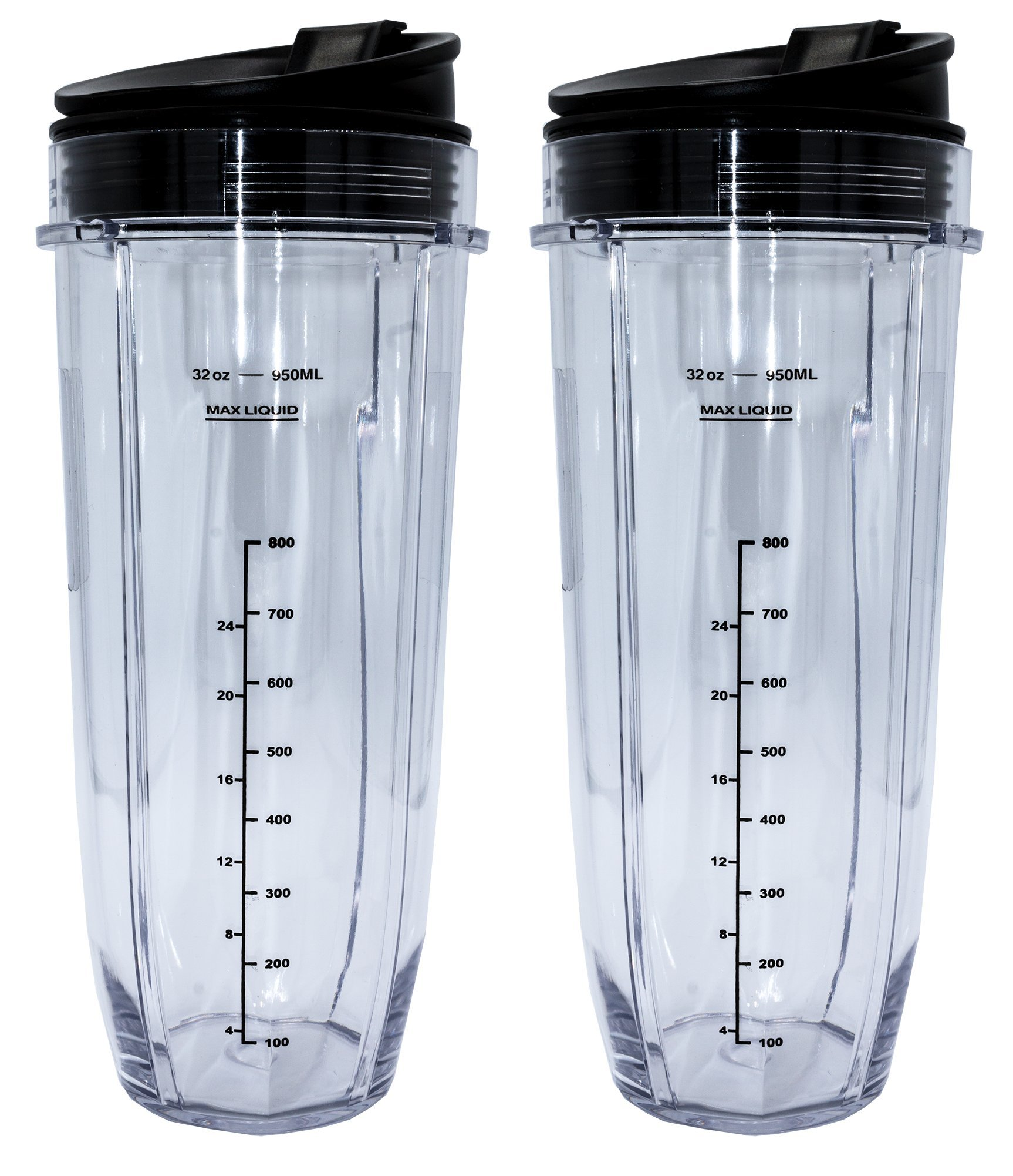 Blendin 2 Pack 32 Ounce Cup with Sip & Seal Lids,Fits Nutri Ninja Auto-iQ 1000W and Duo Blenders by BLENDIN (Image #1)