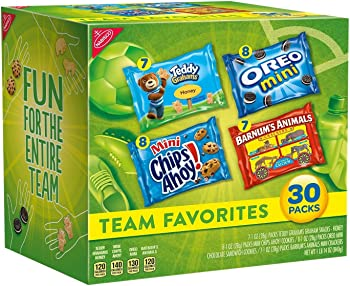 Nabisco 30 Count 30oz Cookies & Crackers Team Favorites Mix Variety Pack