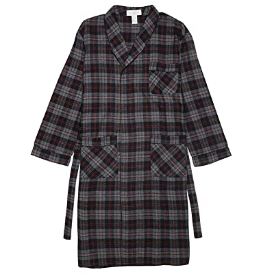 Acura Men's Flannel Cotton Blend Shawl Collar Sleepwear Classical Bath Robe Size S/3XL at Amazon Men's Clothing store